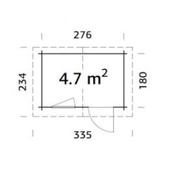 ABRIS DE JARDIN KLARA 4.7 m² -Exclu web-
